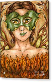 Autumn Tree Sprite Art Acrylic Print