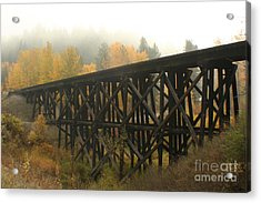 Autumn Trestle Acrylic Print