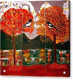 Autumn Trilogy Acrylic Print