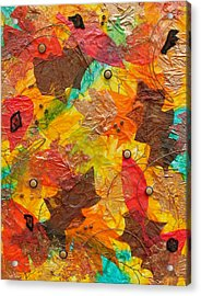 Autumn Leaves Underfoot Acrylic Print