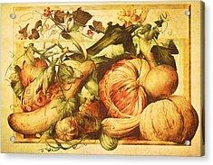 Acrylic Print featuring the digital art Autumn Vegetable Harvest  by Tracie Kaska