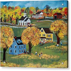 Acrylic Print featuring the painting Autumn by Virginia Coyle