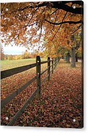 Autumn Vista In Virginia Acrylic Print by Don Struke