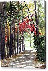 Autumn Walk Acrylic Print by Carla Dabney