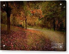 Autumn Walk Acrylic Print by Elaine Manley
