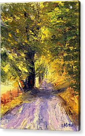Autumn Walk Acrylic Print by Gail Kirtz