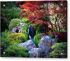 Autumn Waterfall Acrylic Print by Carol Groenen