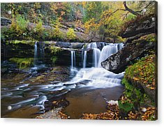 Acrylic Print featuring the photograph Autumn Waterfall by Steve Stuller