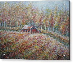 Acrylic Print featuring the painting Autumn Whisper. by Natalie Holland