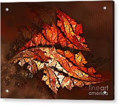 Autumn Wind Acrylic Print by Jutta Maria Pusl