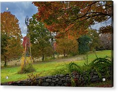 Acrylic Print featuring the photograph Autumn Windmill by Bill Wakeley