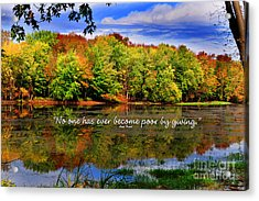 Autumn Wonders Giving Acrylic Print by Diane E Berry