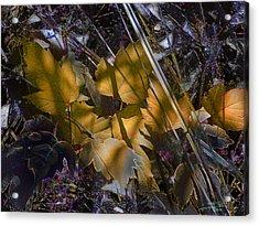 Acrylic Print featuring the digital art Autumn Yellow by Stuart Turnbull