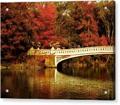 Autumnal Bow Bridge  Acrylic Print