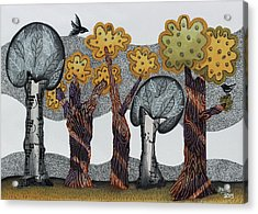 Autumnal Grove  Acrylic Print by Graciela Bello