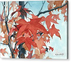 Autumn's Artistry Acrylic Print by Barbara Jewell