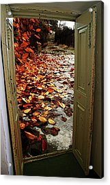 Autumn's Door Acrylic Print