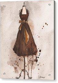 Autumn's Gold Vintage Dress Acrylic Print by Lauren Maurer