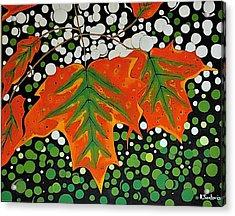 Acrylic Print featuring the painting Autumns Kiss by Kathleen Sartoris