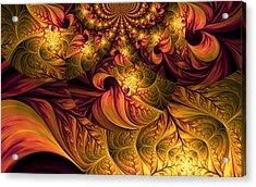Autumns Winds Acrylic Print by Digital Art Cafe