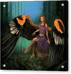 Autumn's Wings Acrylic Print by Poppy Paizs