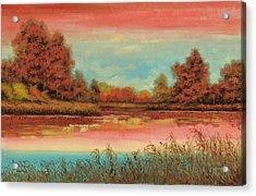 Autunno Sul Lago Acrylic Print