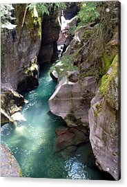 Avalanche Creek Glacier National Park Acrylic Print