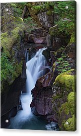Acrylic Print featuring the photograph Avalanche Gorge 3 by Gary Lengyel
