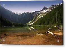 Avalanche Lake At Dawn Acrylic Print by Matt Tilghman