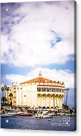 Avalon Casino Catalina Island Vertical Picture Acrylic Print by Paul Velgos
