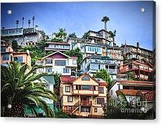 Avalon Hillside With Harbor View Acrylic Print