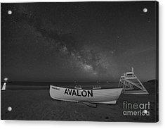 Avalon Milky Way Bw Acrylic Print