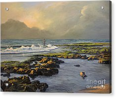 Avalon Point Acrylic Print by Jeanne Newton Schoborg
