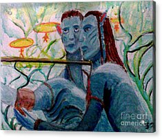 Avatar Painting Acrylic Print
