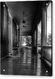 Avenel Front Porch - Bw Acrylic Print