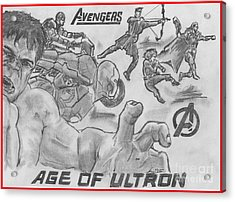 Avengers Age Of Ultron Acrylic Print by Chris  DelVecchio