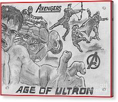 Avengers Age Of Ultron Acrylic Print