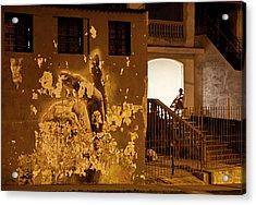Avenue De Los Presidentes Havana Cuba Acrylic Print by Charles Harden
