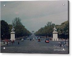 Avenue Des Champs Elysees Acrylic Print by Oleg Konin