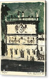 Avignon Historic Building Acrylic Print by Martin Stankewitz