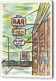 Avoca Bar Acrylic Print by Matt Gaudian