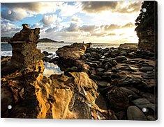 Avoca Rocks Mk1 Acrylic Print by David Benson