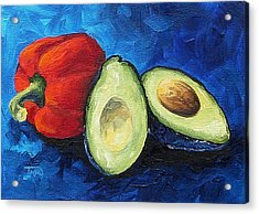Avocado And Pepper  Acrylic Print by Torrie Smiley