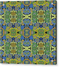 Avocado Blue Pattern Acrylic Print