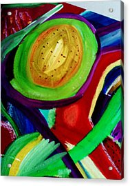Avocado  Acrylic Print by HollyWood Creation By linda zanini