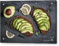 Avocado Sandwich Acrylic Print by Elena Elisseeva
