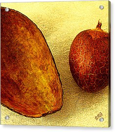Avocado Seed And Skin II Acrylic Print by Ben and Raisa Gertsberg