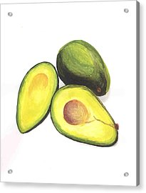 Avocados Acrylic Print by David Seter