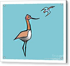 Avocet Composition 3 Acrylic Print by Art MacKay
