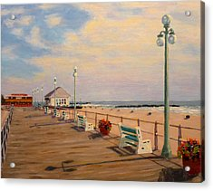 Acrylic Print featuring the painting Avon Pavilion by Joe Bergholm